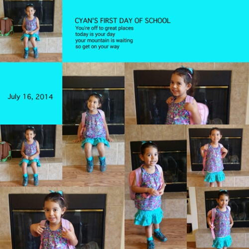 Cyan's First Day of School